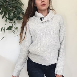 Cozy knit collar sweater
